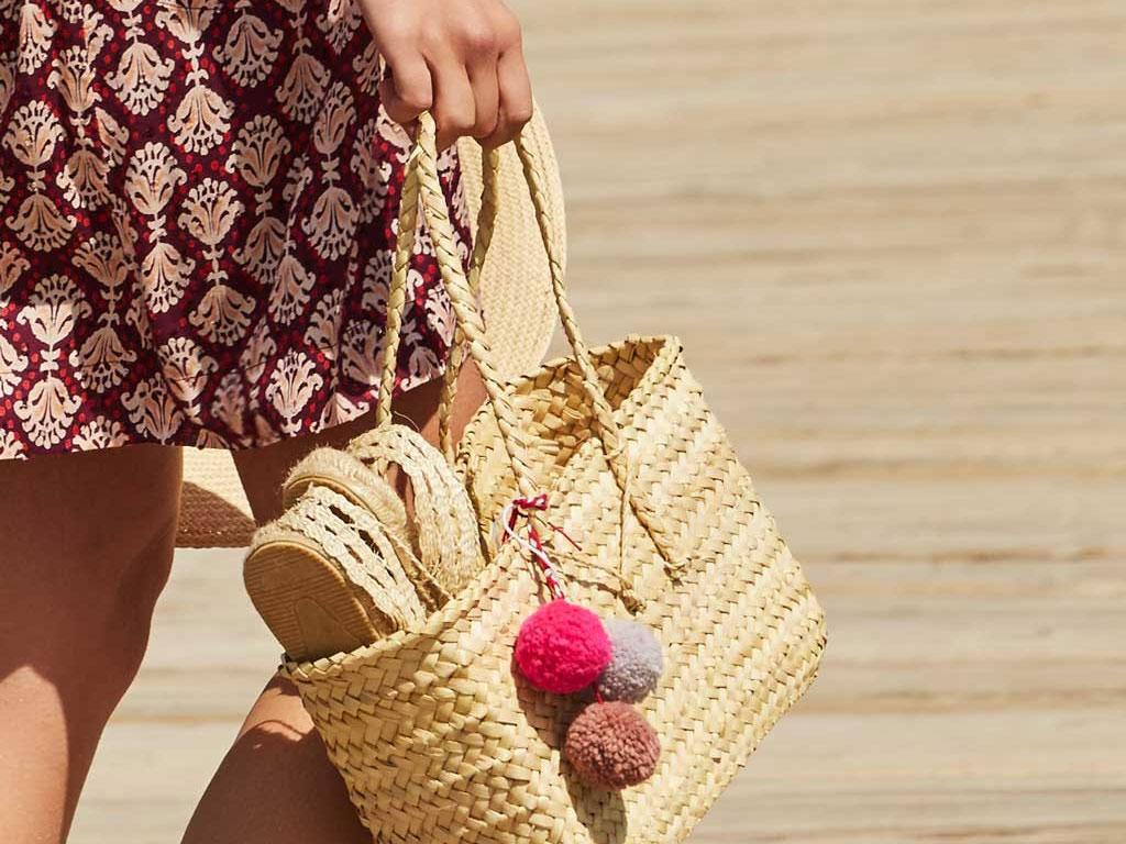 Saca tus bolsos de tejidos naturales Se ponen de moda