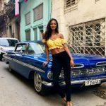 Lais Ribeiro, uno de los ángeles de Victoria's Secret, de vacaciones en Cuba