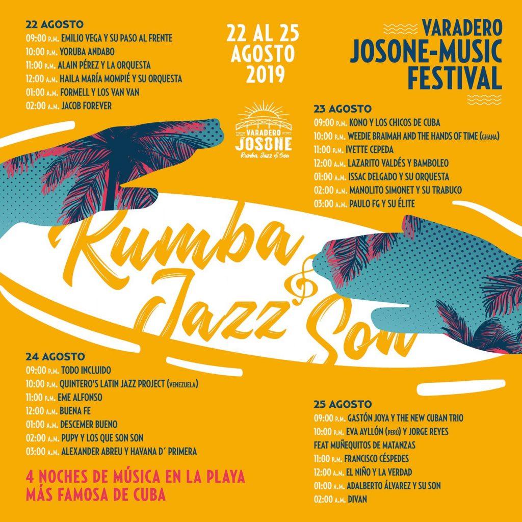 Programa general Varadero Josone-Music Festival 2019