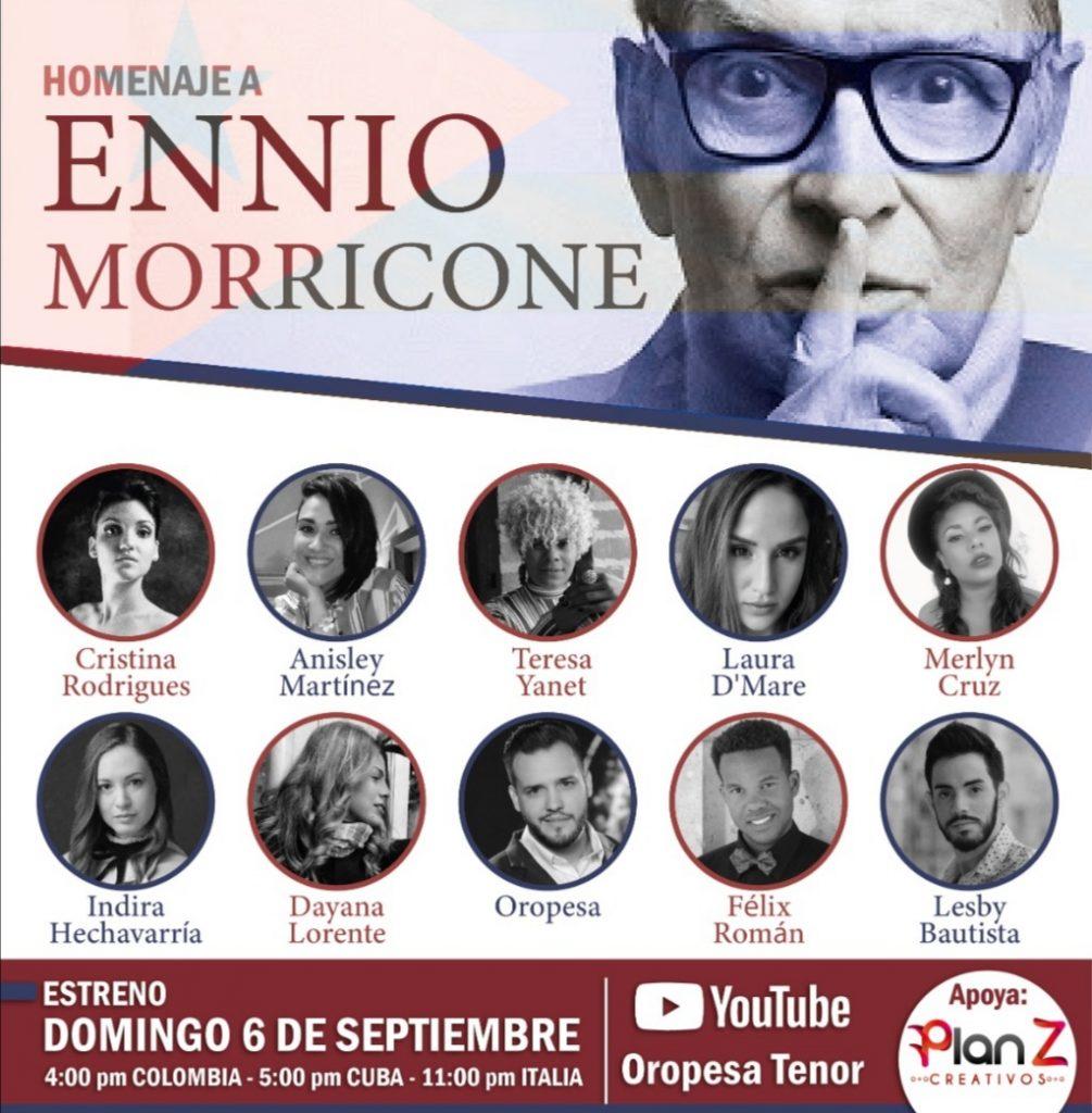 Diez jóvenes cantantes líricos cubanos se unen en sentido homenaje a uno de los compositores italianos más trascendentales, Ennio Morricone.