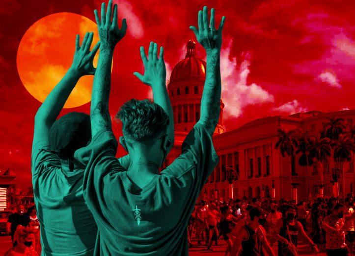 manifestantes en cuba